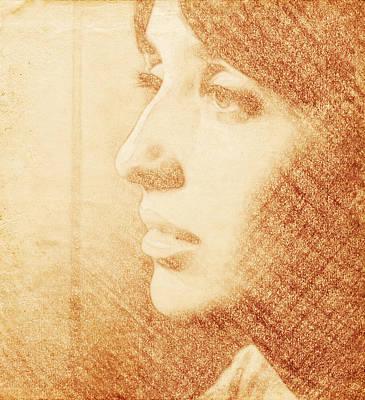 Joan Baez Sketch Poster