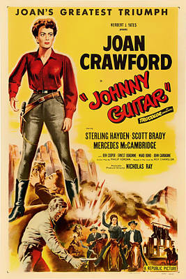 Joan Crawford In Johnny Guitar 1954 Poster by Mountain Dreams