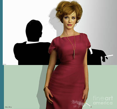 Joan Holloway, Mad Men, Don Draper Graphic Print, Sterling Cooper Pryce Poster by Thomas Pollart