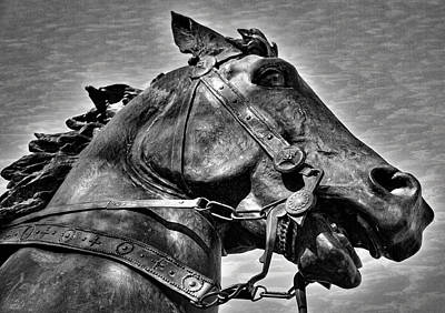 Joan Of Arc's Horse Poster by Stuart Litoff