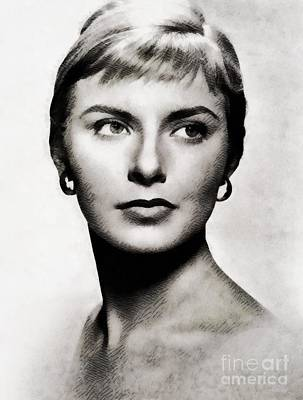 Joanne Woodward, Vintage Actress Poster by John Springfield