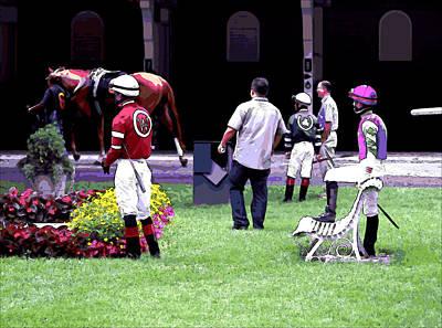 Jockeys Painting Poster