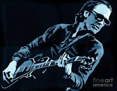 Joe Bonamassa - Different Shades Of Blue Poster by Tanya Filichkin