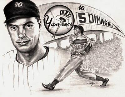 Joe Dimaggio Poster by Kathleen Kelly Thompson