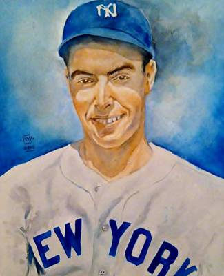 Joe Dimaggio Poster by Nigel Wynter
