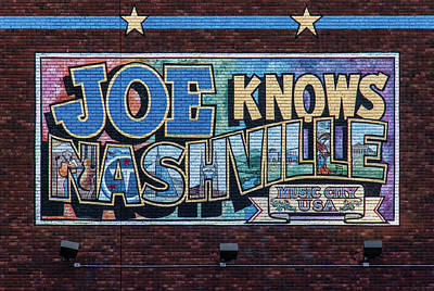 Joe Knows Nashville Poster by Mike Burgquist