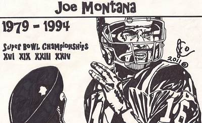Joe Montana Stats Edition Poster by Jeremiah Colley
