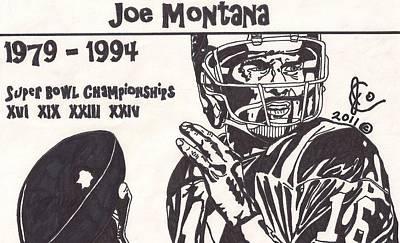 Joe Montana Stats Edition Poster