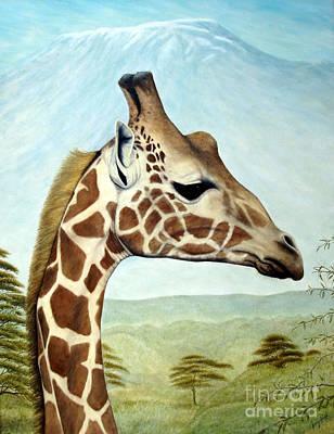Joey's Giraffe Poster