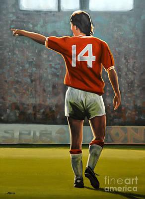 Johan Cruyff Oranje Nr 14 Poster