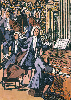 Johann Sebastian Bach, 1732 Poster