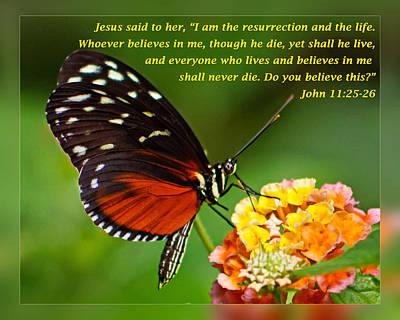 John 11 25-26 Poster