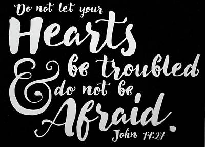 John 14 27 Scripture Verses Bible Art Poster by Reid Callaway