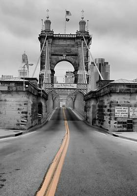 John A Roebling Suspension Bridge Poster by Dan Sproul