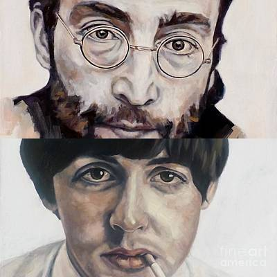 John And Paul Poster by Rebecca Glaze