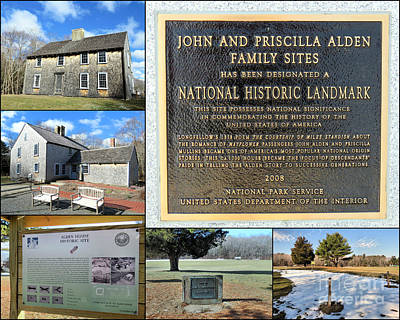 John And Priscilla Alden Family Sites Poster by Janice Drew