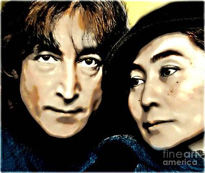 John And Yoko Poster