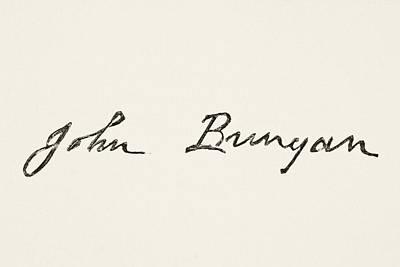 John Bunyan 1628 To 1688. English Poster by Vintage Design Pics