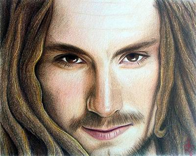 Poster featuring the drawing John Butler by Danielle R T Haney