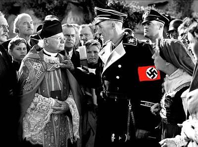John Carradine As Reinhard Heydrich Hitlers Madman 1943 Color Added 2016 Poster