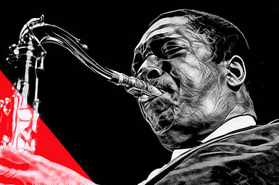 John Coltrane Collection Poster by Marvin Blaine