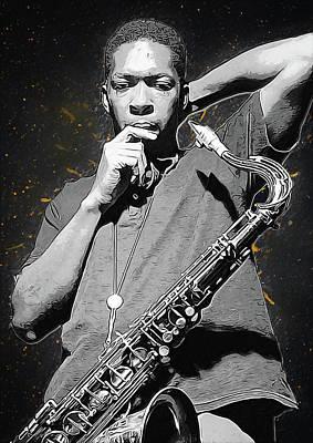 John Coltrane Poster by Semih Yurdabak