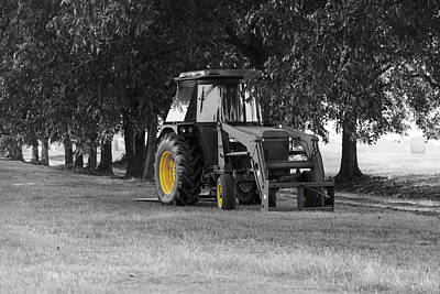 Poster featuring the photograph John Deere 620 In Selective Color by Doug Camara