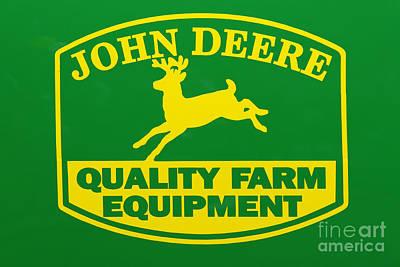 John Deere Farm Equipment Sign Poster