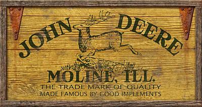 John Deere Sign Poster by WB Johnston