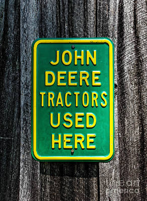 John Deere Used Here Poster