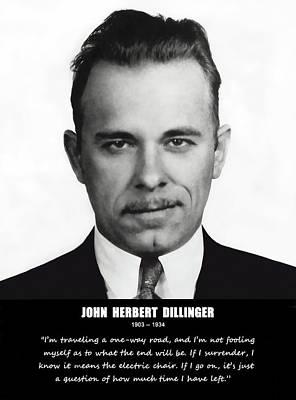 John Dillinger -- Public Enemy No. 1 Poster by Daniel Hagerman