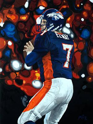 John Elway - Legacy Poster by Mike Lorenzo