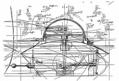 John Ericsson's Sketch For Turret Ship, 1890 Poster