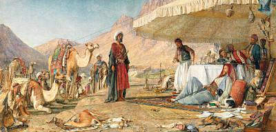 Poster featuring the photograph John Frederick Lewis Mount Sinai 1842 by Munir Alawi