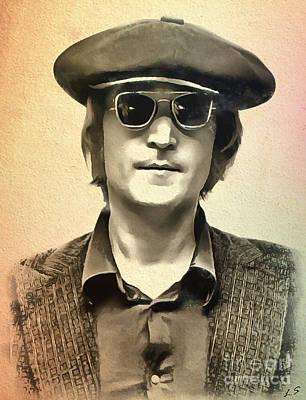John Lennon 01 Poster by Sergey Lukashin
