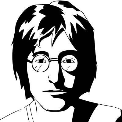 John Lennon Poster by Caio Caldas