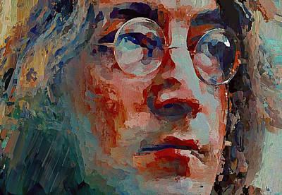 John Lennon Colors 5 Poster by Yury Malkov