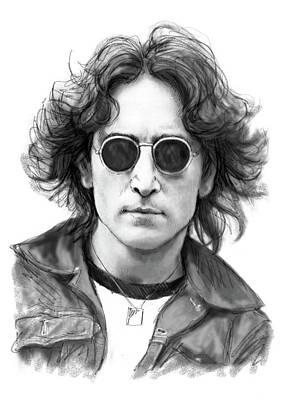 John Lennon Drawing Art Poster Poster