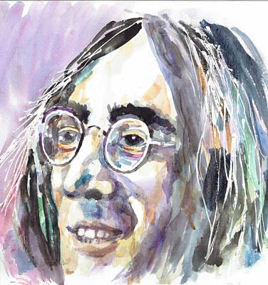 John Lennon Portrait - By Diana Van Poster by Diana Van