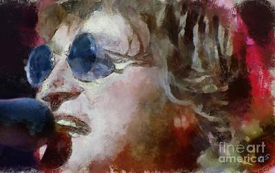 John Lennon Poster by Sergey Lukashin