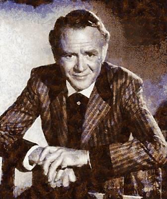 John Mills Vintage Actor Poster