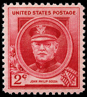 John Philip Sousa Postage Stamp Poster by James Hill