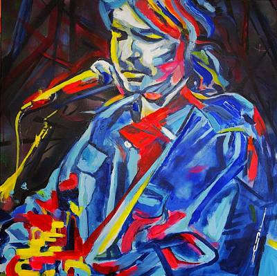 Poster featuring the painting John Prine #3 by Eric Dee