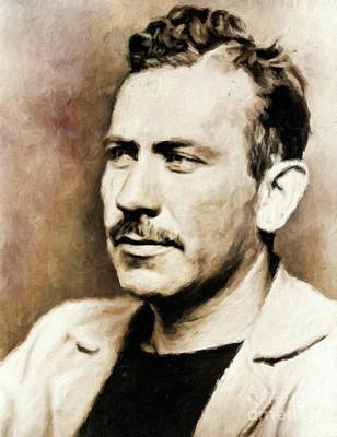 John Steinbeck, Literary Legend By Mary Bassett Poster