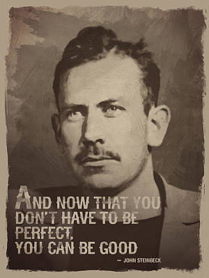 John Steinbeck Quote Poster by Afterdarkness