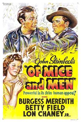 John Steinbeck's Of Mice And Men Poster