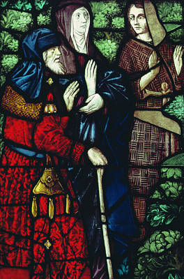 John The Baptist Takes Leave Of His Parents Poster by Unknown