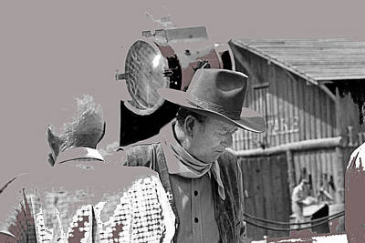 John Wayne And Director Howard Hawks  Alienated Rio Lobo Old Tucson Arizona 1970-2016 Poster by David Lee Guss