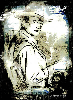 John Wayne Poster by Arline Wagner