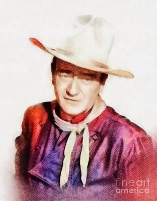 John Wayne, Vintage Hollywood Legend Poster by John Springfield
